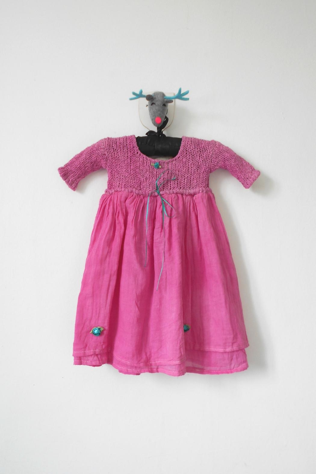 Scarecrow Kids Pink Muslin Dress - Front Cropped Image
