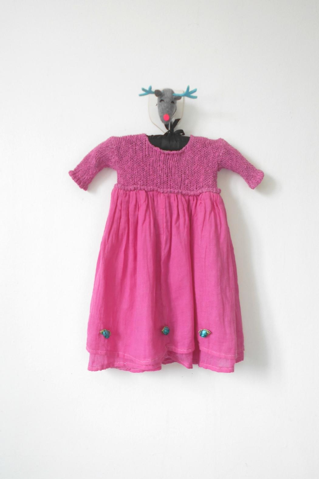 Scarecrow Kids Pink Muslin Dress - Front Full Image