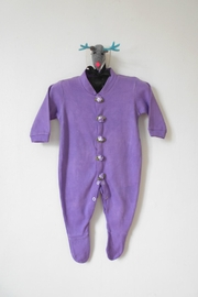 Scarecrow Kids Purple Footed Onesie - Product Mini Image