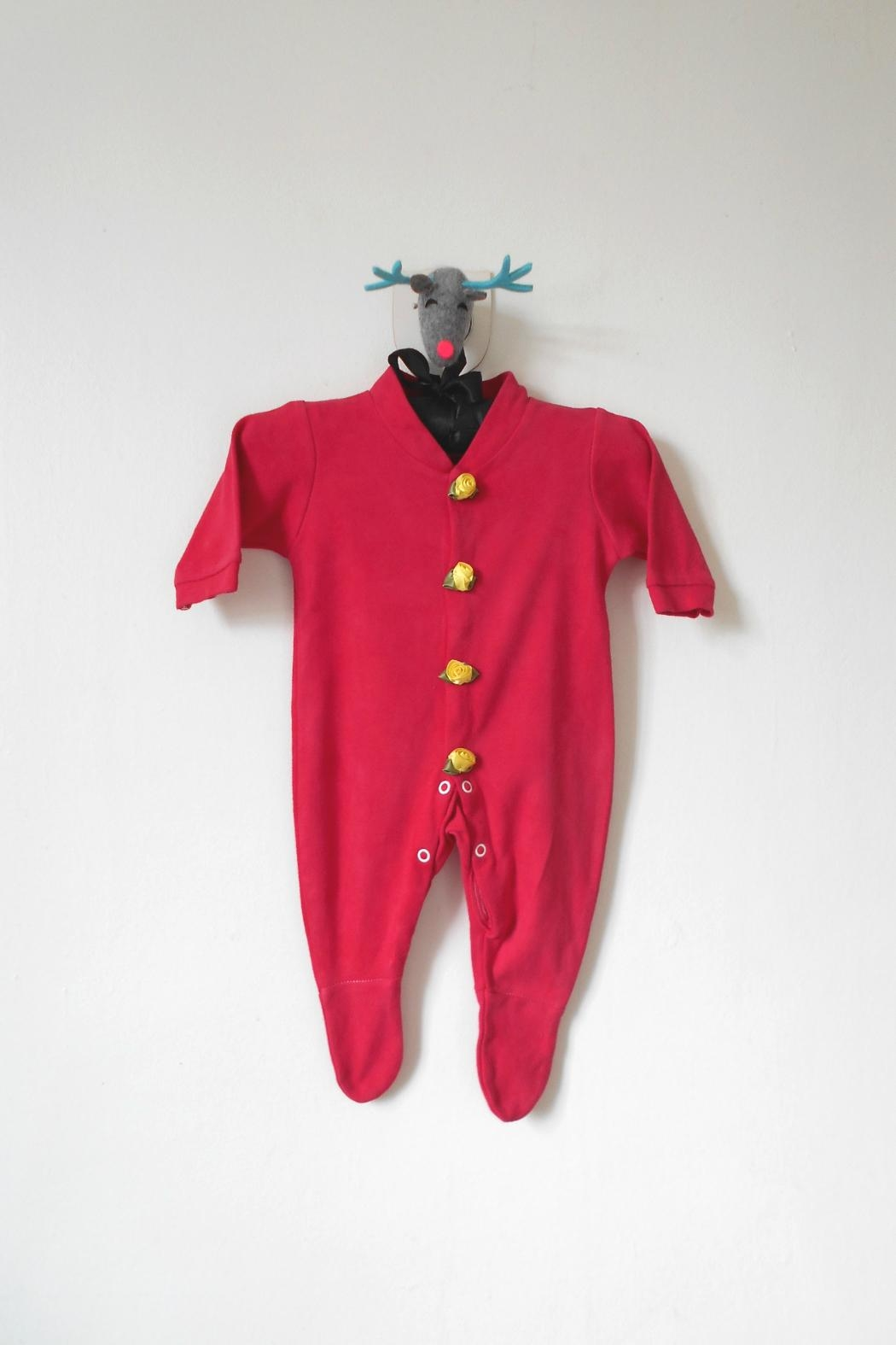Scarecrow Kids Red Footed Onesie - Main Image