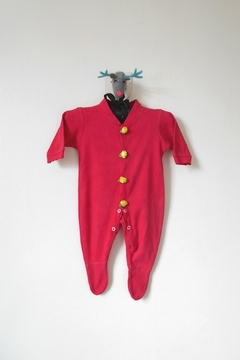 Scarecrow Kids Red Footed Onesie - Product List Image