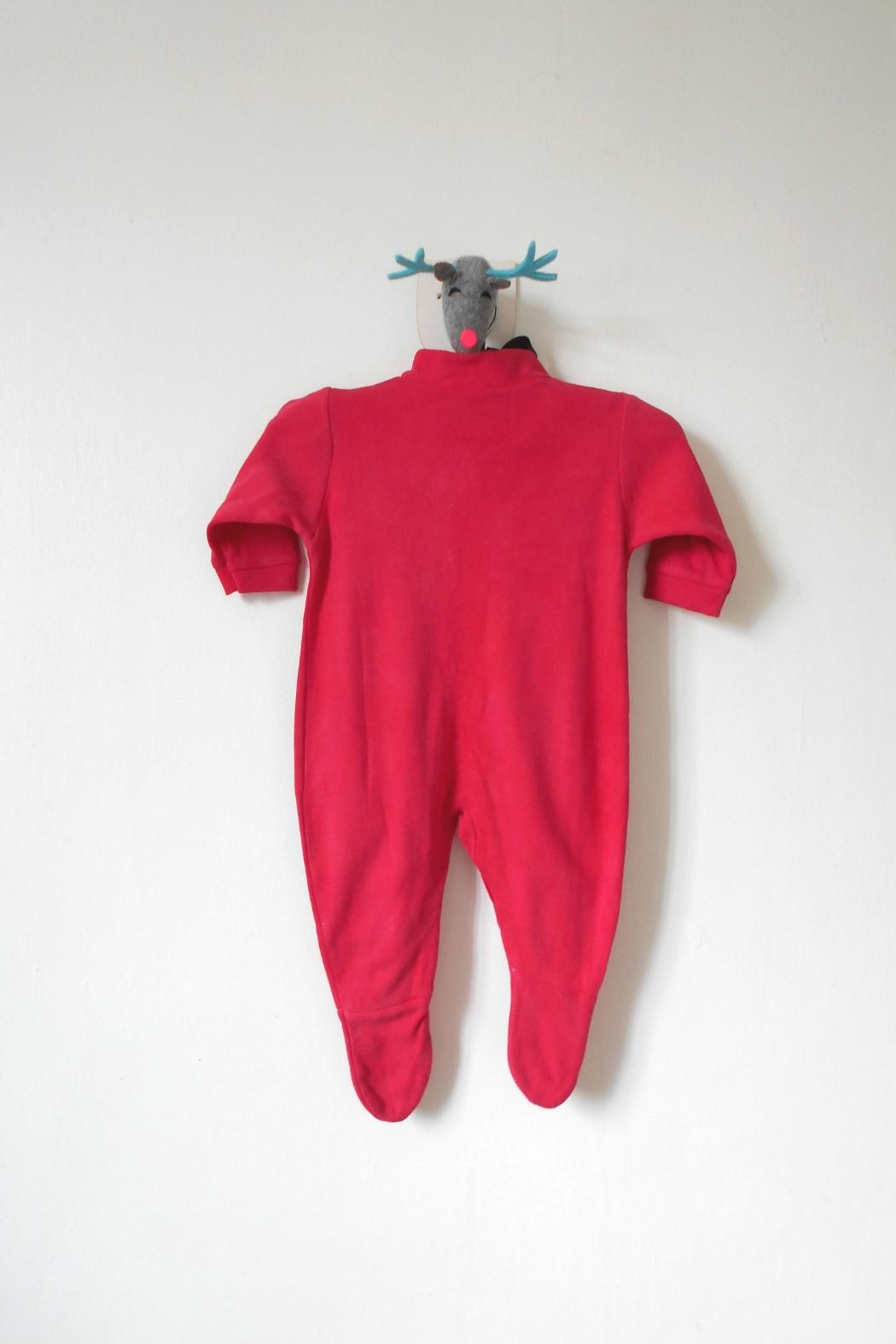 Scarecrow Kids Red Footed Onesie - Side Cropped Image