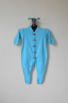 Scarecrow Kids Turquoise Footed Onesie - Product List Image