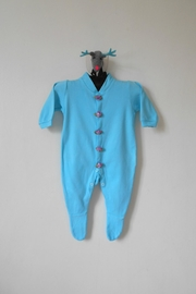 Scarecrow Kids Turquoise Footed Onesie - Product Mini Image