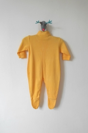 Scarecrow Kids Yellow Footed Onesie - Side cropped