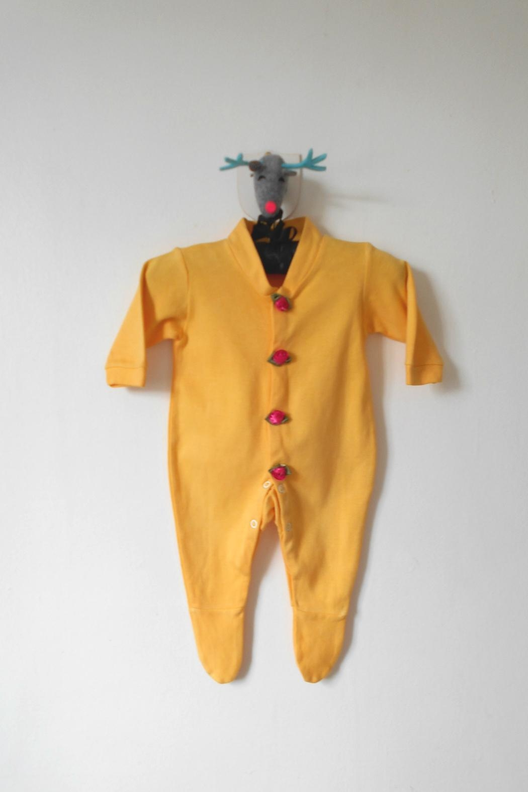 Scarecrow Kids Yellow Footed Onesie - Main Image