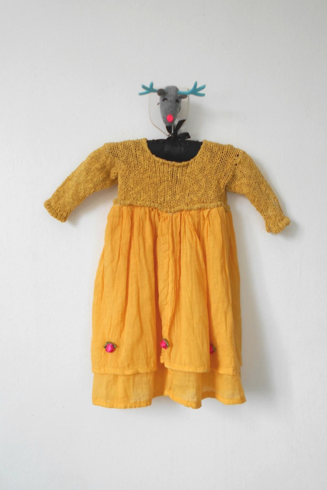 Scarecrow Kids Yellow Muslin Dress - Front Full Image