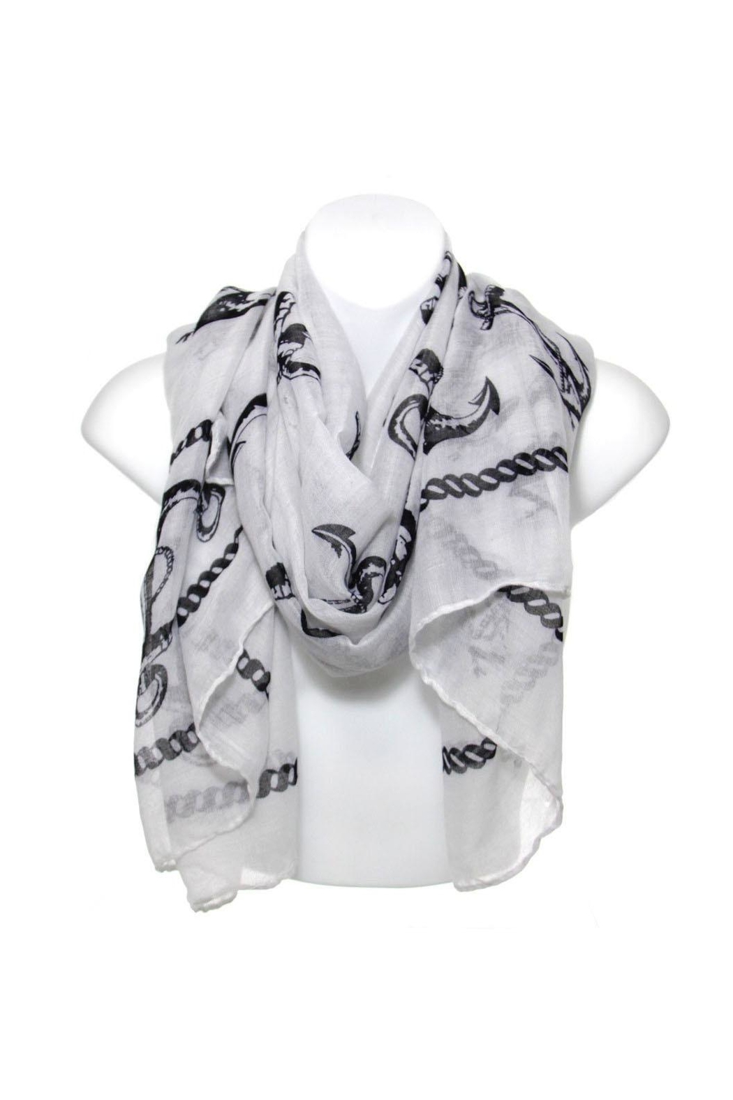 Diane's Accessories Scarf Black Anchors - Main Image