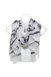 Diane's Accessories Scarf Black Anchors - Product Mini Image