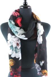Pretty Persuasions Scarf Fire Flowers - Product Mini Image
