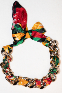 Handmade by CA artist Scarf with Chain - Linked - Necklace - Alternate List Image