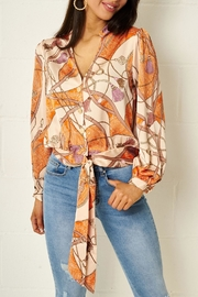 frontrow Scarf Print Blouse - Product Mini Image