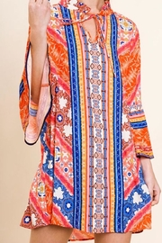 Umgee USA Scarf-Print Keyhole Dress - Product Mini Image