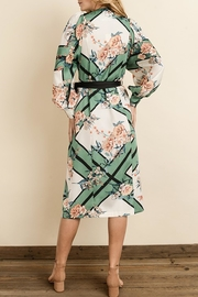 dress forum Scarf-Print Kimono Dress - Back cropped