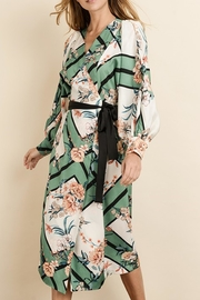 dress forum Scarf-Print Kimono Dress - Front full body