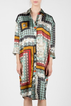 BEULAH STYLE Scarf Print Shirt/dress - Product List Image