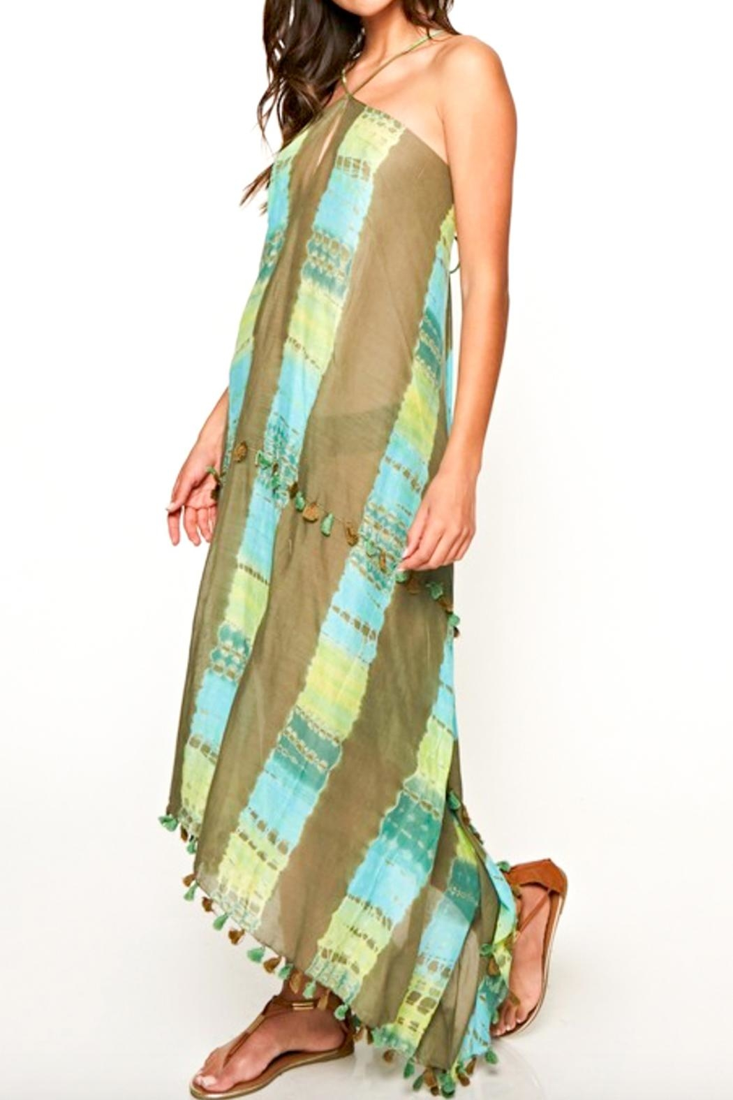 Love Stitch Scarf Tie Dress - Back Cropped Image