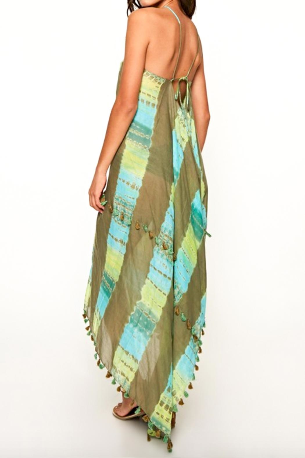 Love Stitch Scarf Tie Dress - Side Cropped Image