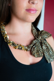 Handmade by CA artist Scarf with Chain - Linked - Necklace - Product Mini Image