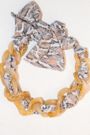 Handmade by CA artist Scarf with Chain - Linked - Necklace - Back cropped