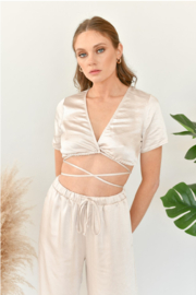The NOW Scarlett Wrap Top - Product Mini Image