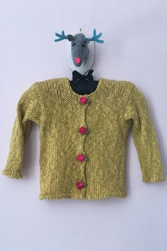 Shoptiques Product: Yellow Rosebud Cardigan