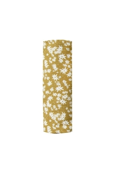 Rylee & Cru Scattered Daisy Swaddle Citron - Product List Image