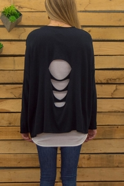 Planet Scattered Holes Sweater - Side cropped