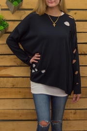 Planet Scattered Holes Sweater - Front full body