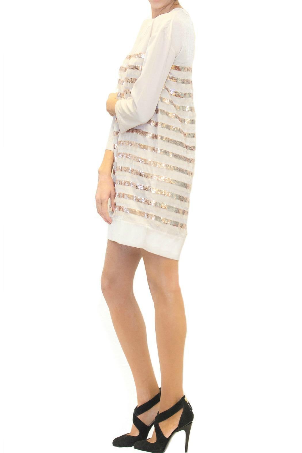 Scee Bronze Striped Dress - Side Cropped Image