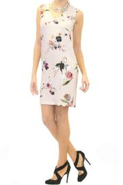 Scee Sleeveless Pink Floral Dress - Side cropped