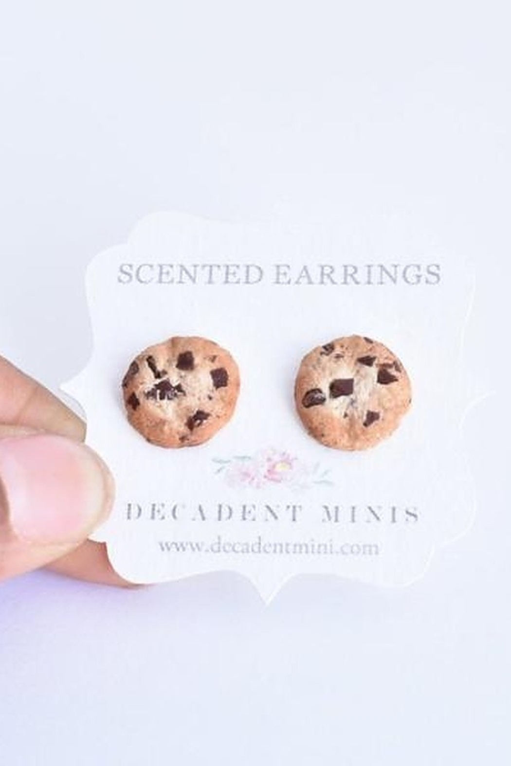 Decadent Minis Scented Hypoallergenic Stud Earrings - Front Full Image