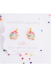 Decadent Minis Scented Hypoallergenic Stud Earrings - Front full body