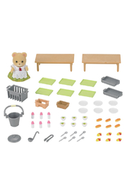 Calico Critters School Lunch Set - Front full body