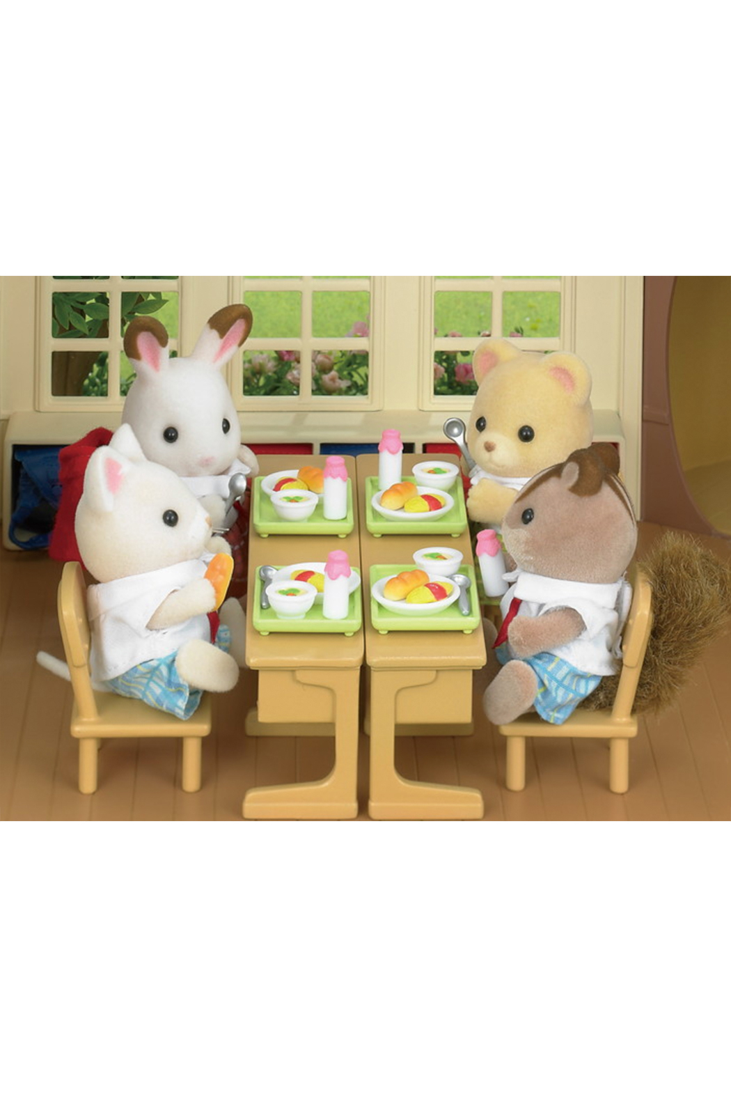 Calico Critters School Lunch Set - Back Cropped Image