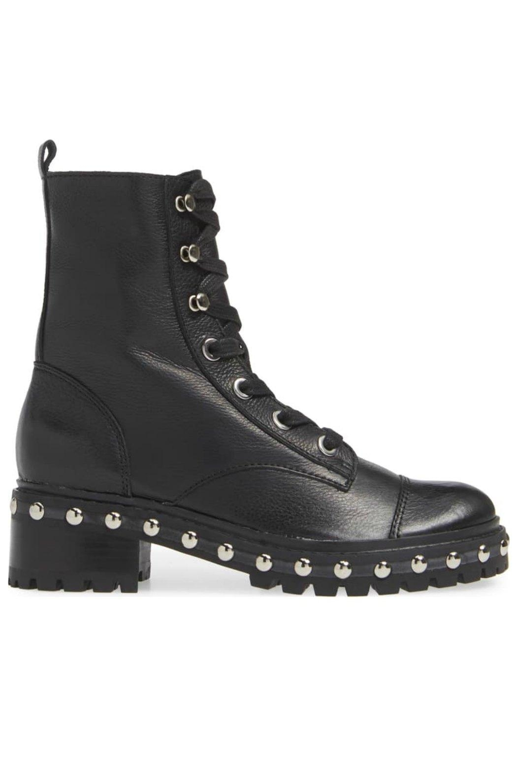 Schutz Andrea Stud Combat-Boot - Side Cropped Image