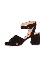 Giuseppe Flessigno Black Suede Sandals - Front full body