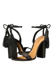 Schutz Black Tassel Heel - Front full body