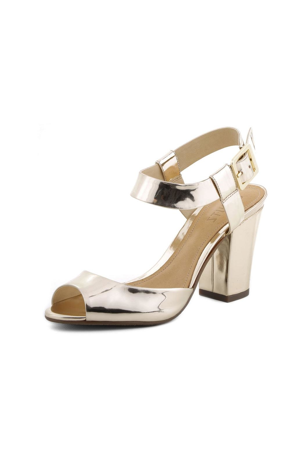 Schutz Chunky Gold Colored Sandals - Main Image