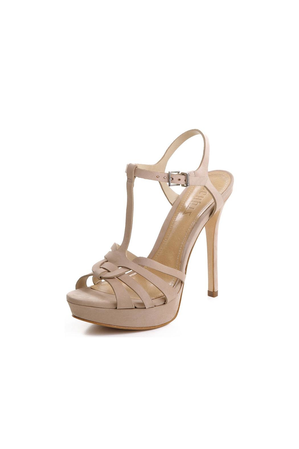 Schutz Leather Classic Sandal - Front Cropped Image