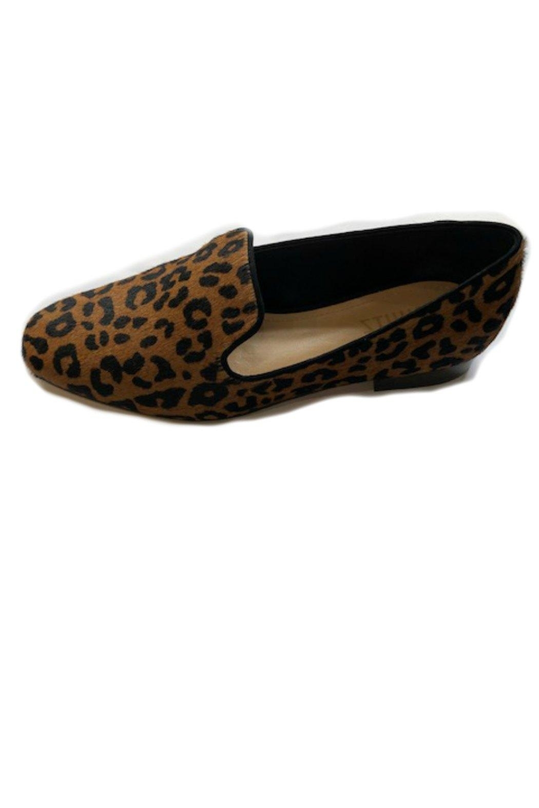 Schutz Leopard Calfhair Loafers - Main Image