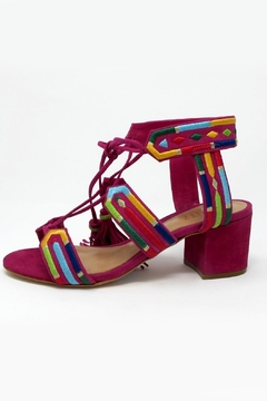 Shoptiques Product: Pink Embroidered Heel