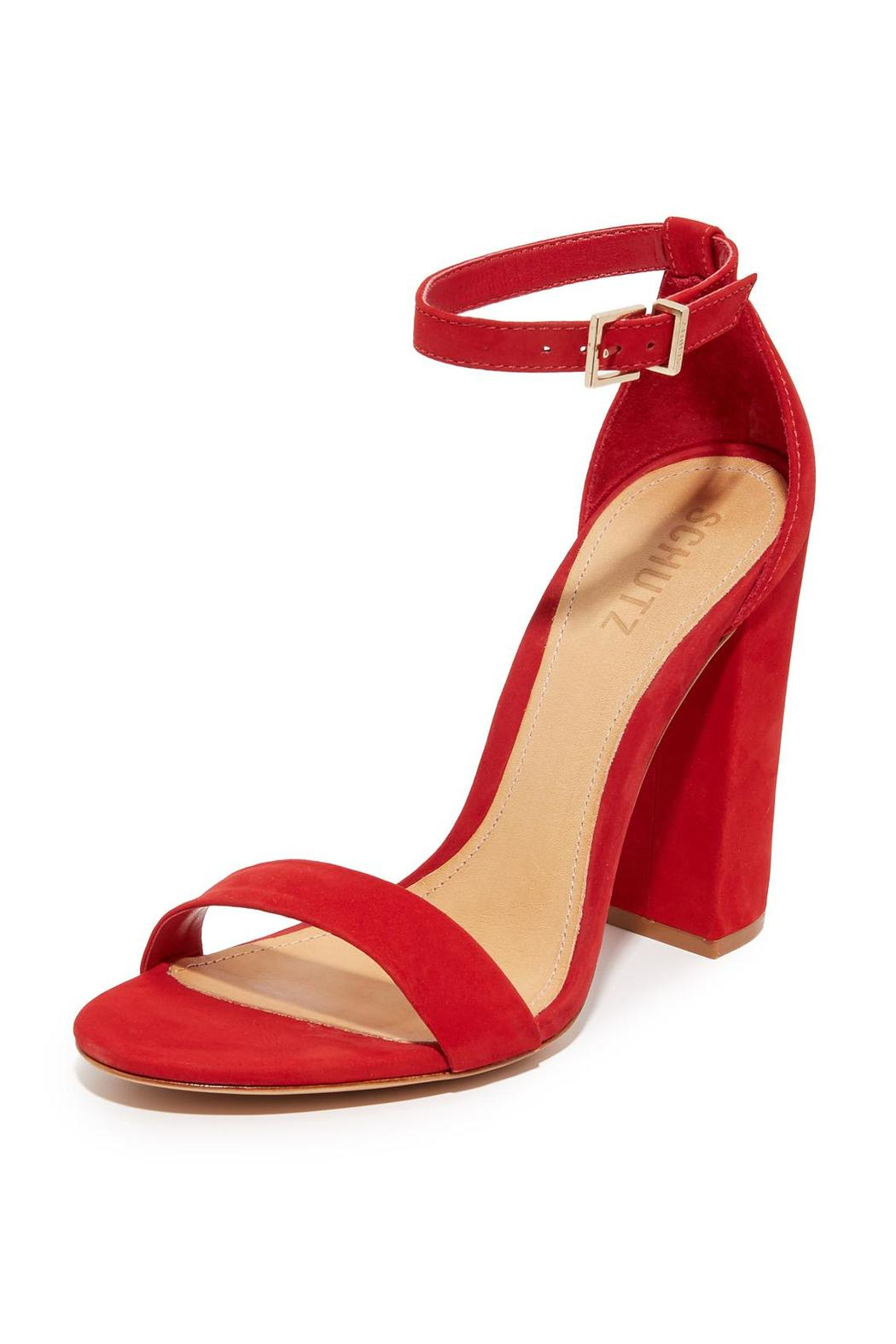 2fcfe7f8055 Schutz Red Block Heels from New Jersey by Shop Pray Love — Shoptiques