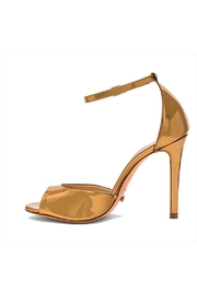 Schutz Saasha Lee Bronze Sandals - Front cropped