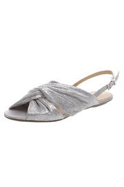Schutz Silver Flat Sandals - Product Mini Image