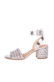 Schutz Silver Leather Sandals - Product Mini Image