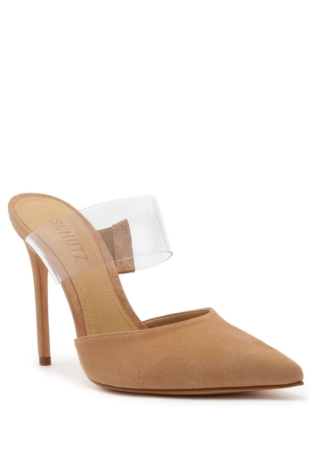Schutz Sionne Suede Mule - Front Cropped Image