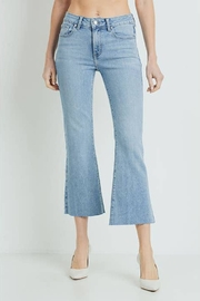 Just Black Denim Scissor Cut Cropped Flair - Product Mini Image