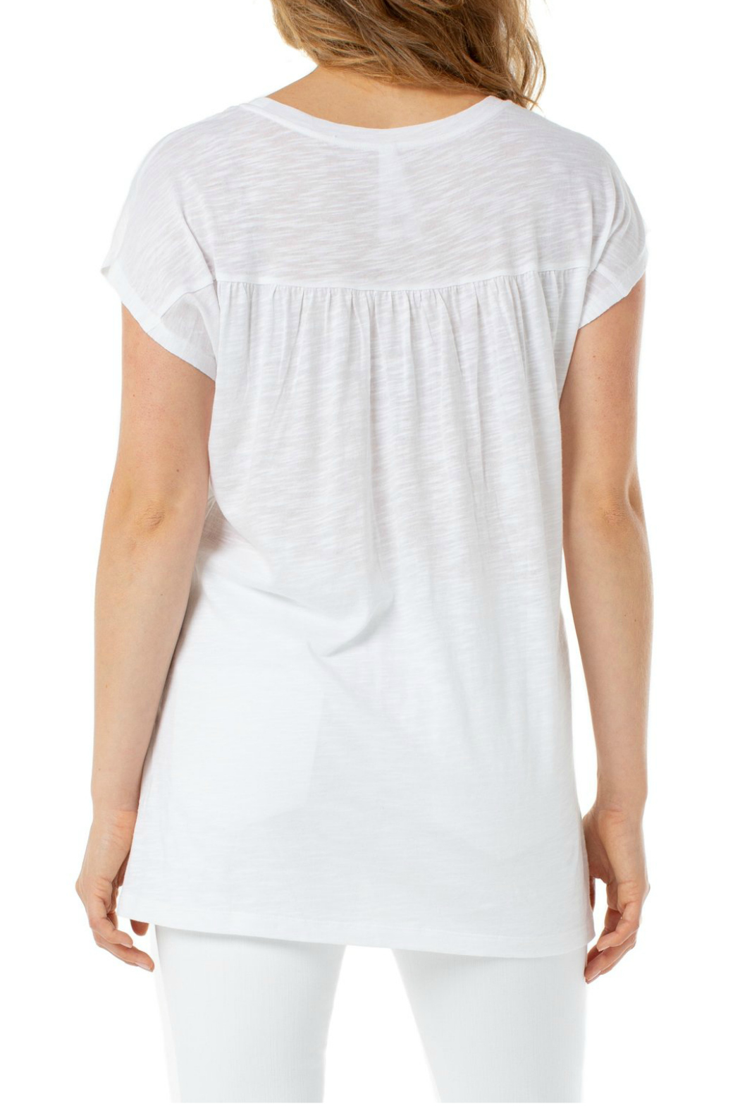 Liverpool  SCOOP NECK CAP SLEEVE DOLMAN - Side Cropped Image