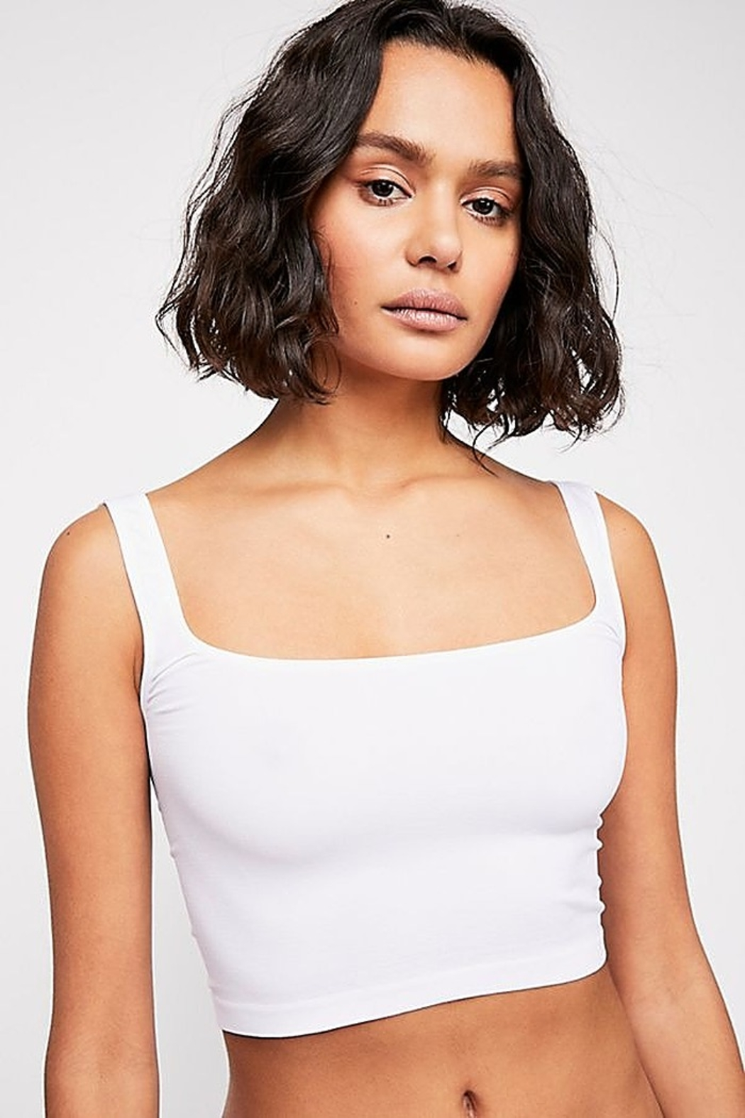 Free People Scoop Neck Crop - Front Cropped Image